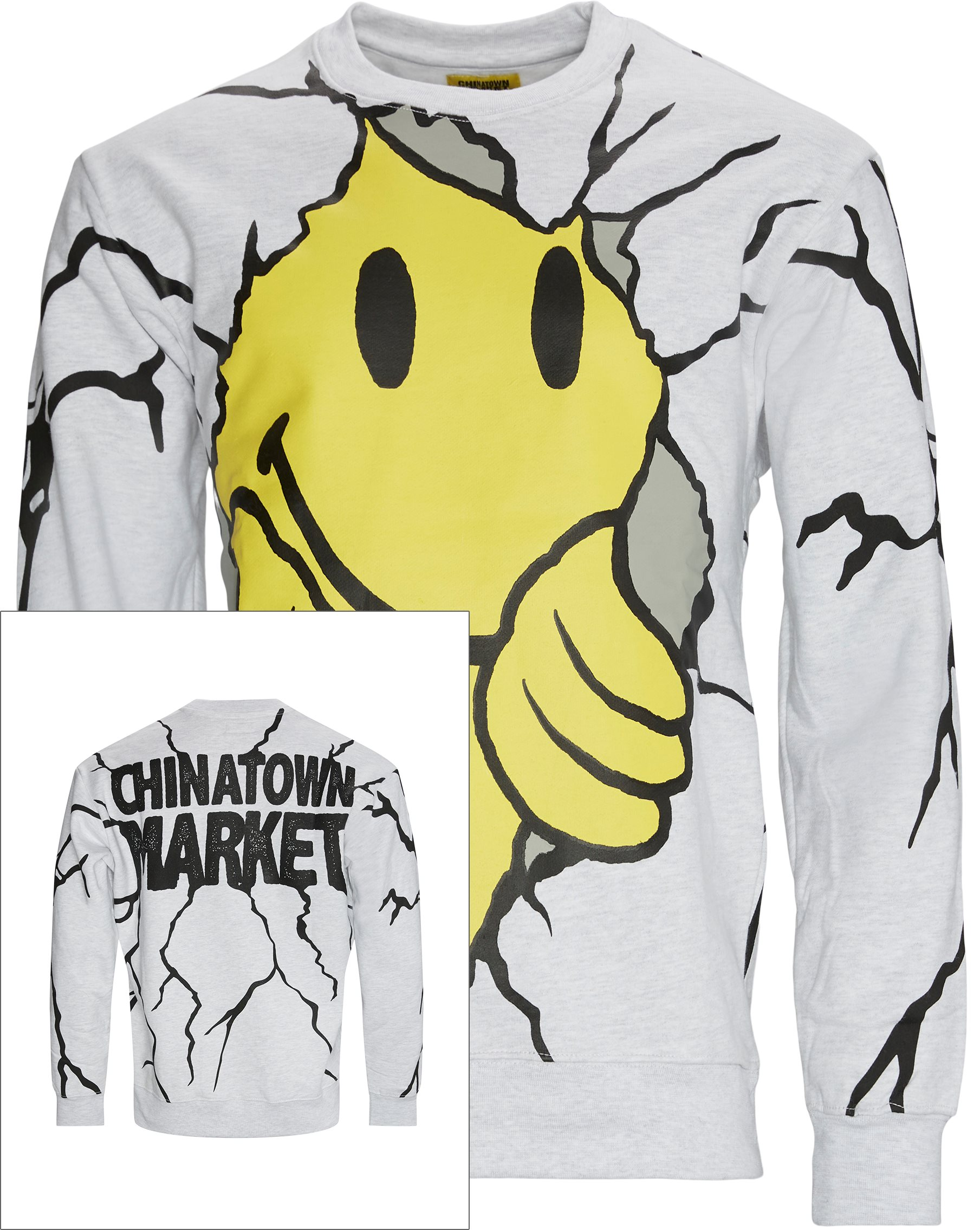 Smiley Dry Wall Breaker Crewneck - Sweatshirts - Regular fit - Grå